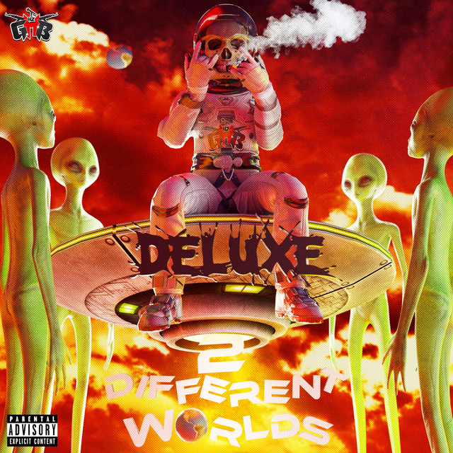 Album cover for 2 Different Worlds (Deluxe) by Lil 2z