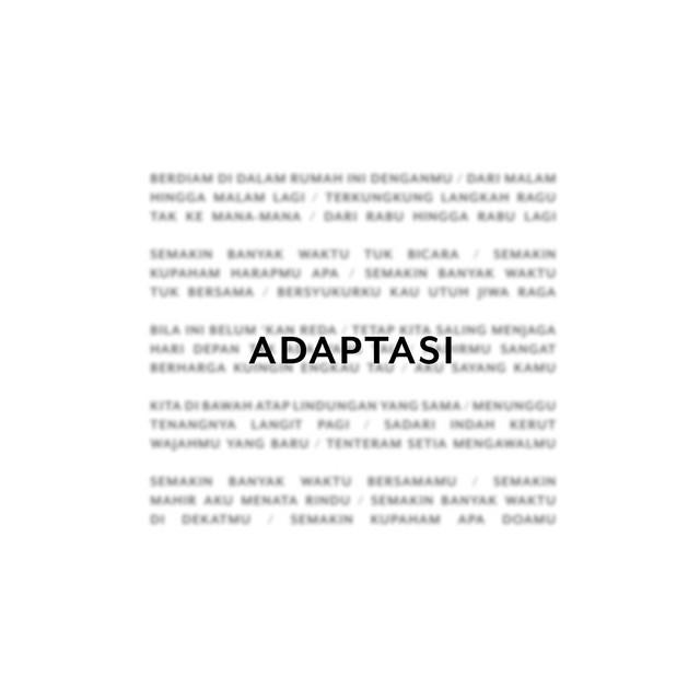 Adaptasi by Tulus on Spotify