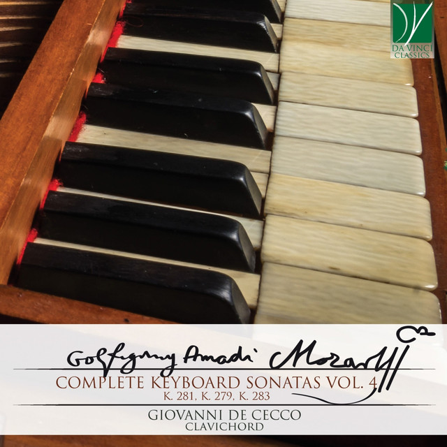 Album cover for Mozart - Complete Keyboard Sonatas Vol. 4 by Wolfgang Amadeus Mozart, Giovanni De Cecco
