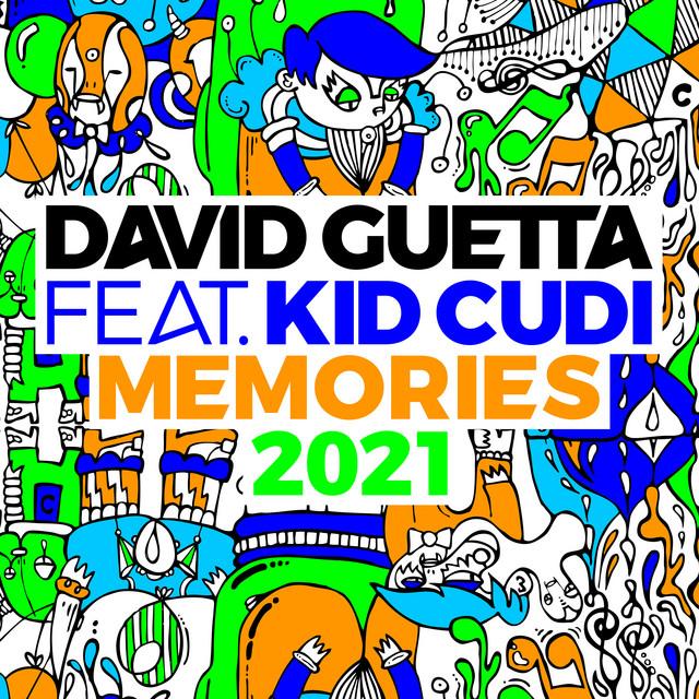 Pochette de David Guetta, Kid Cudi - Memories (feat. Kid Cudi) (2021 Remix)