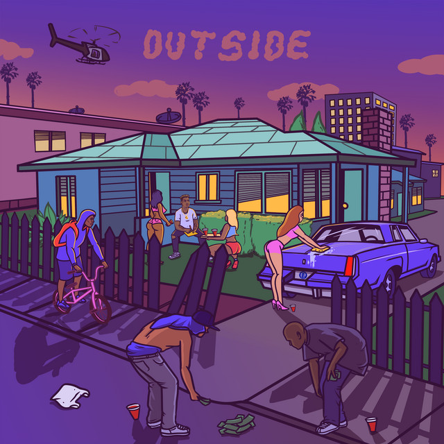 Album cover for OUTSIDE by Bino Rideaux