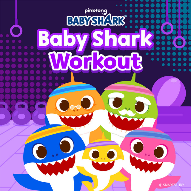 Album cover for Baby Shark Workout by Pinkfong