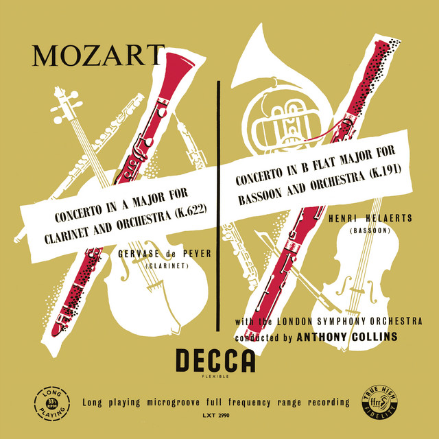 Mozart: Symphony No. 33; Minuet, KV 334; Clarinet Concerto; Bassoon Concerto (Anthony Collins Complete Decca Recordings, Vol. 1)