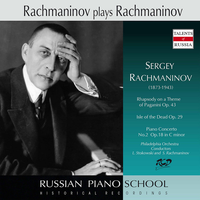 Album cover for Rachmaninoff: Piano Concerto No. 2 in C Minor, Op. 18 & Other Works by Sergei Rachmaninoff, Leopold Stokowski, Philadelphia Orchestra
