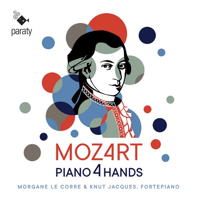 Album cover for Mozart: Piano 4 Hands by Wolfgang Amadeus Mozart, Knut Jacques, Morgane Le Corre