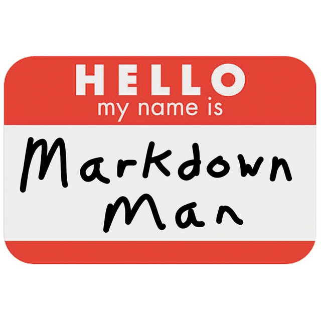 Markdown Man