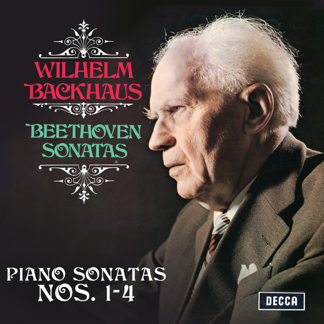Album cover for Beethoven: Piano Sonatas Nos. 1, 2, 3 & 4 (Stereo Version) by Ludwig van Beethoven, Wilhelm Backhaus