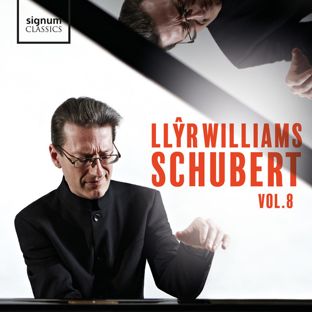 Album cover for Schubert - Vol. 8 by Franz Liszt, Franz Schubert, Llŷr Williams