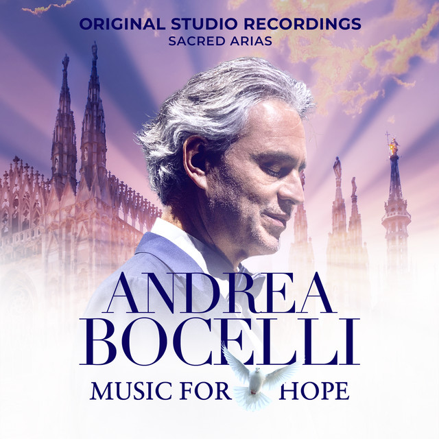 Andrea Bocelli - Music for Hope: The Original Studio Recordings - \'Sacred Arias\' cover