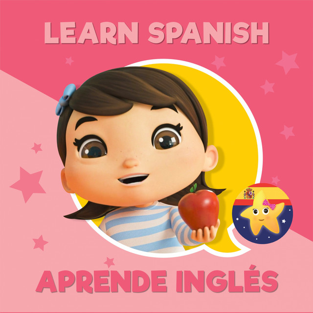 Album cover for Learn Spanish - Aprende Inglés by Little Baby Bum Nursery Rhyme Friends, Little Baby Bum Rima Niños Amigos