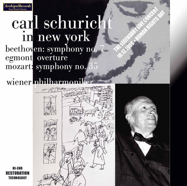Album cover for Mozart, Beethoven & Mendelssohn: Orchestral Works (Live) by Wiener Philharmoniker, Carl Schuricht