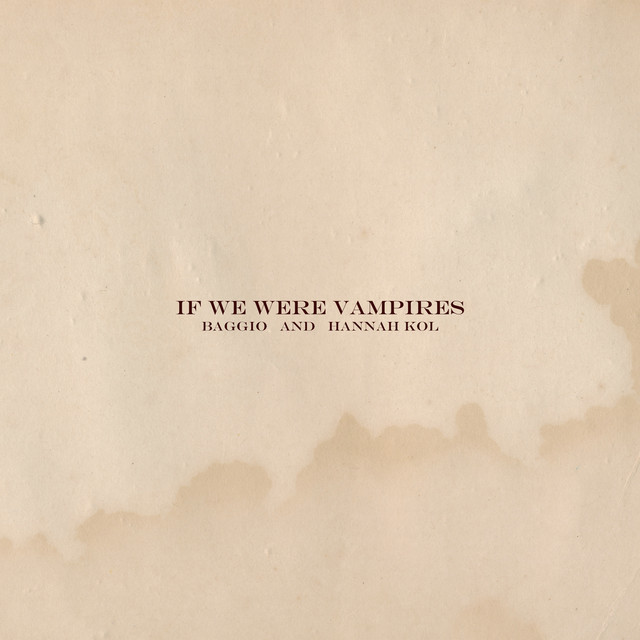 If We Were Vampires