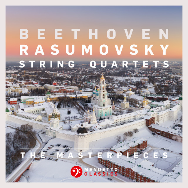 Album cover for The Masterpieces, Beethoven: String Quartets Nos. 7, 8 & 9, Op. 59