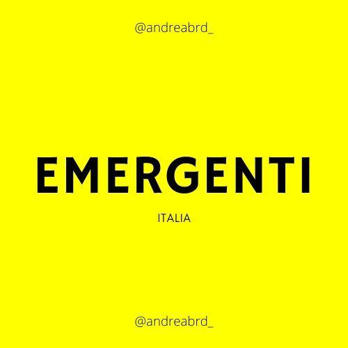 Emergenti ITALIA 🚸🇮🇹
