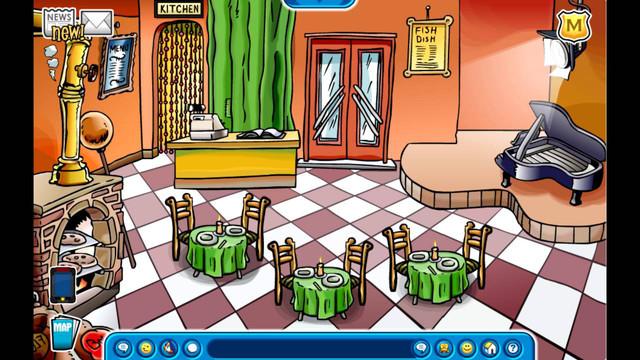 club penguin pizza parlor theme