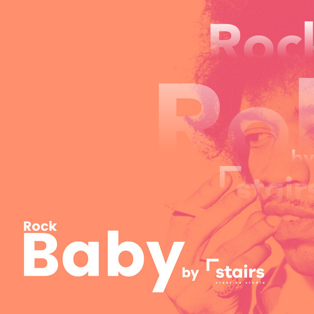 Rock baby by Stairs