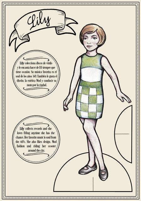 PAPER DOLLS -Lily