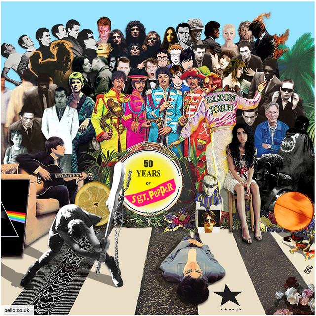 50 Years of Sgt. Pepper - A Britsh Album Cover Mash Up