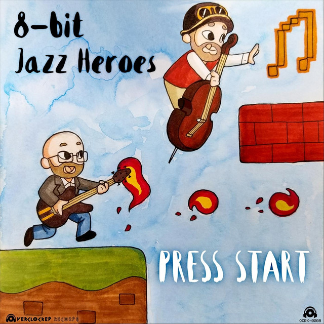 Album cover for Press Start by 8-Bit Jazz Heroes