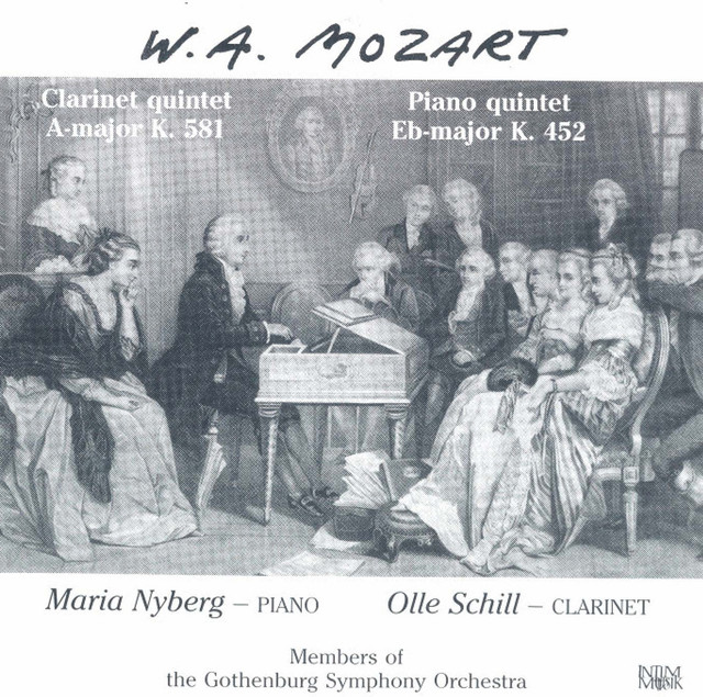 Mozart: Clarinet Quintet, K. 581 - Piano Quintet, K. 452 Albumcover