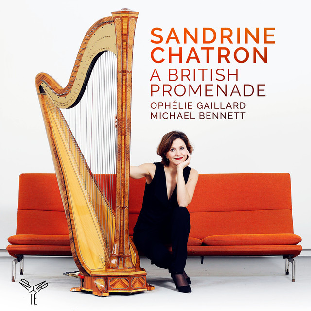 "Album cover for Sandrine Chatron ""A British Promenade"" by Sandrine Chatron, Ophélie Gaillard, Michael Bennett"
