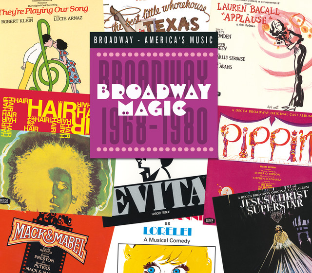 Various Artists Broadway Magic: Broadway 1968-1980 album cover