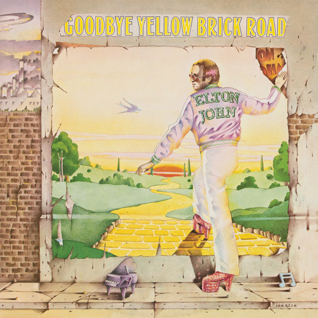 Elton John Goodbye Yellow Brick Road album cover