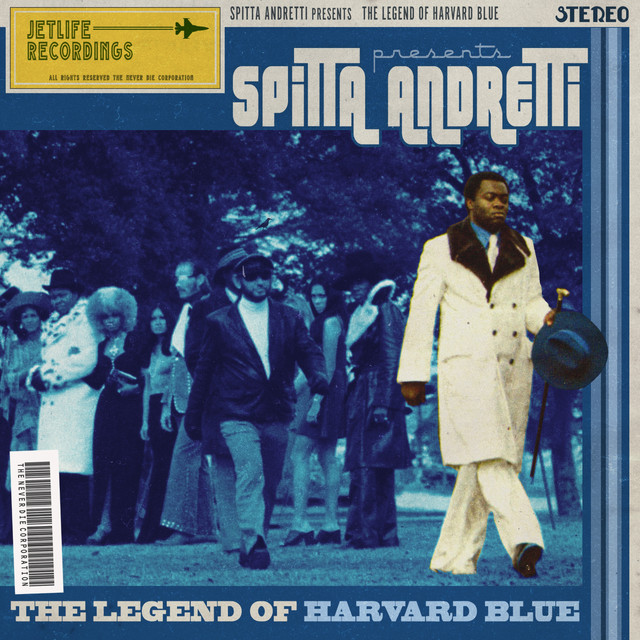 Album cover for The Legend of Harvard Blue by Curren$y