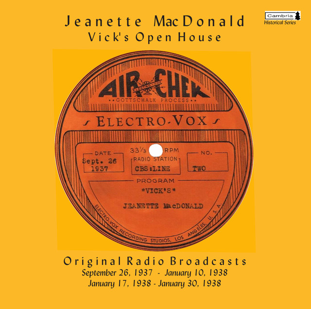 Jeanette MacDonald Vick's Open House album cover