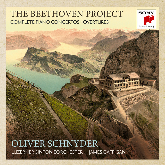 Album cover for The Beethoven Project - The 5 Piano Concertos & 4 Overtures by Ludwig van Beethoven, Oliver Schnyder