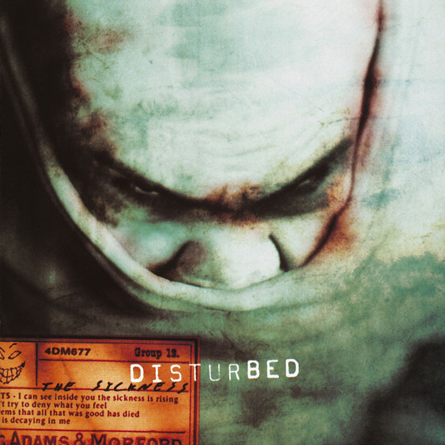 Disturbed The Sickness album cover