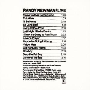 Randy Newman Live album