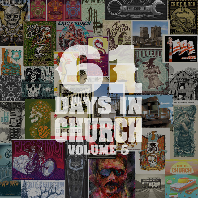 Album cover for 61 Days In Church Volume 5 by Eric Church