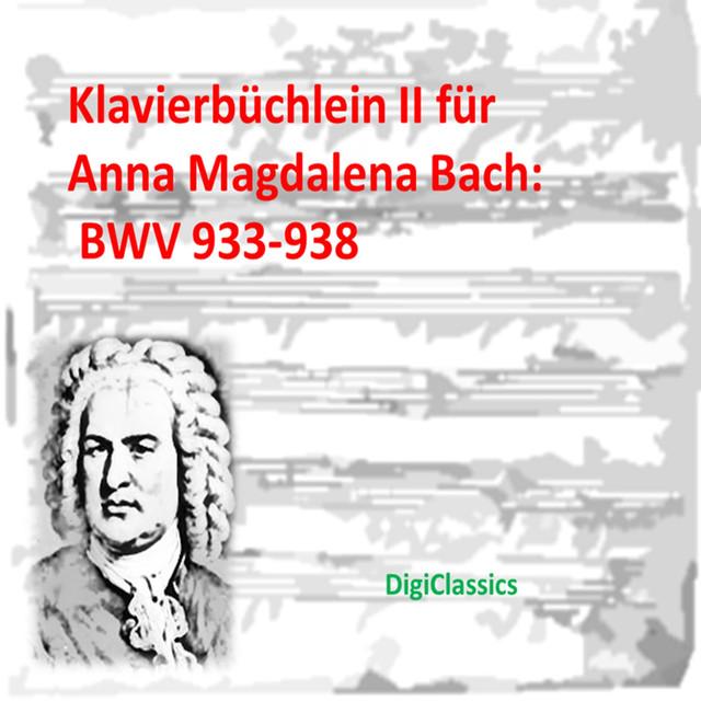 Bach: Klavierbuchlein II fur Anna Magdalena Bach, BWV 933-938 Albumcover