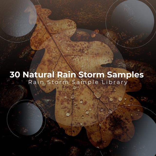30 Natural Rain Storm Samples by Rain Storm Sample Library