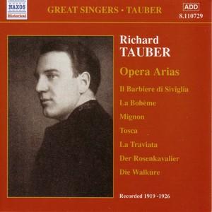 Tauber, Richard: Opera Arias (1919-1926) Albumcover