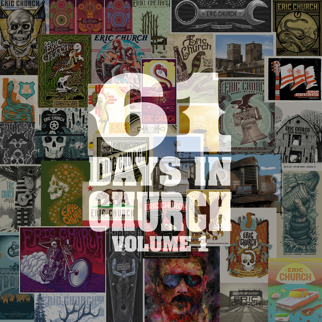 Album cover for 61 Days Of Church Volume 1 by Eric Church
