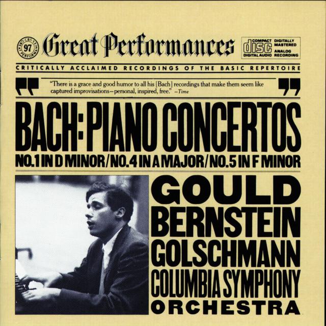 J. S. Bach: Keyboard Concertos Nos. 1, 4 & 5 Albumcover
