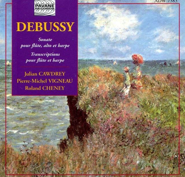 Debussy: Sonate pour flûte, alto et harpe & Transcriptions pour flûte et harpe Albumcover