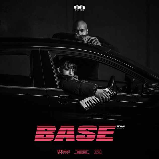Album cover for BASE by Adje, roselilah