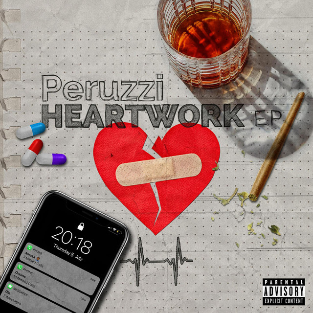 Album cover for Heartwork by Peruzzi