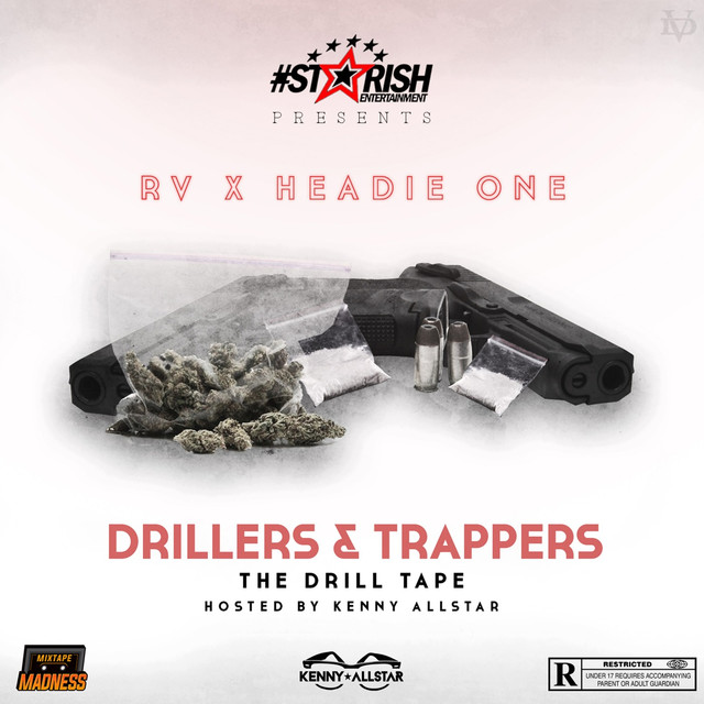 Album cover for Drillers X Trappers by RV, Headie One