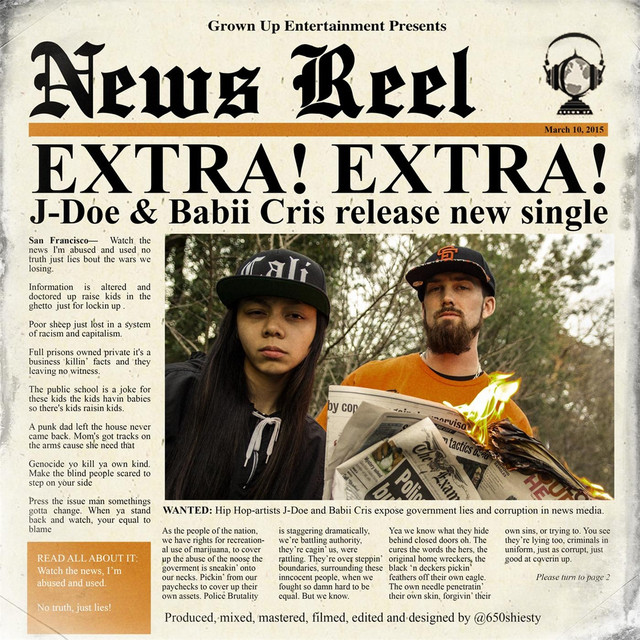 J-Doe News Reel (Extra! Extra!) [feat. Babii Cris] album cover