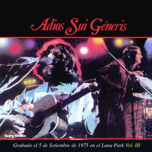 Adios Sui Generis Vol III - Sui Generis