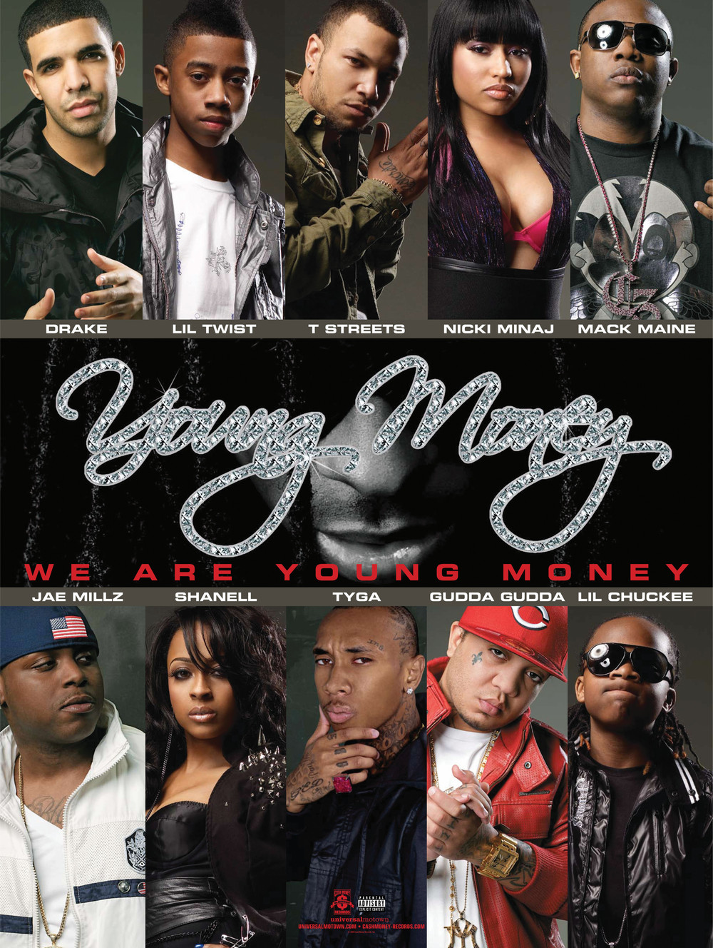 The whole young money crew