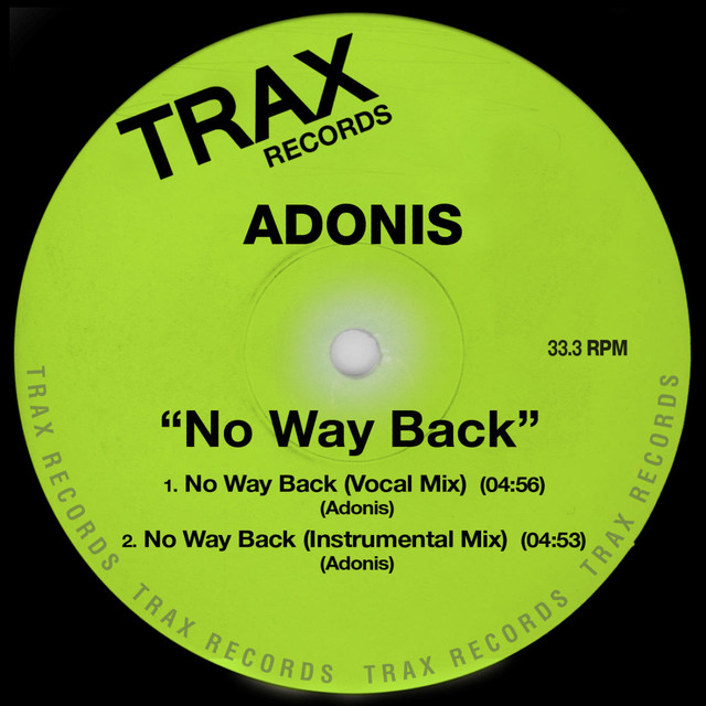 Artwork for No Way Back - Instrumental Mix by Adonis