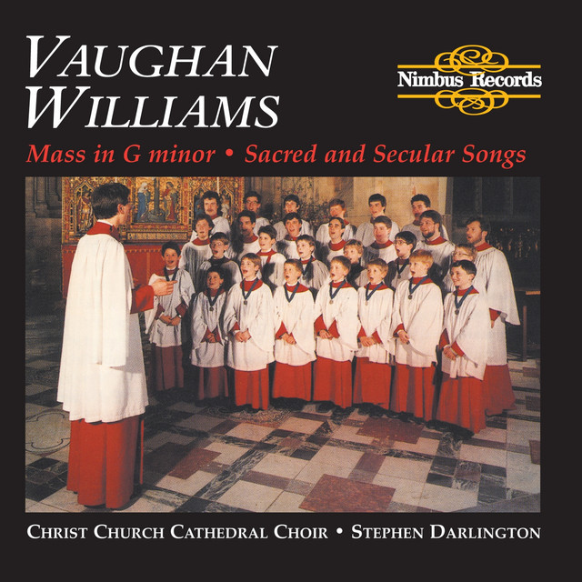 Vaughan Williams: Mass in G Minor, Sacred and Secular Songs Albumcover