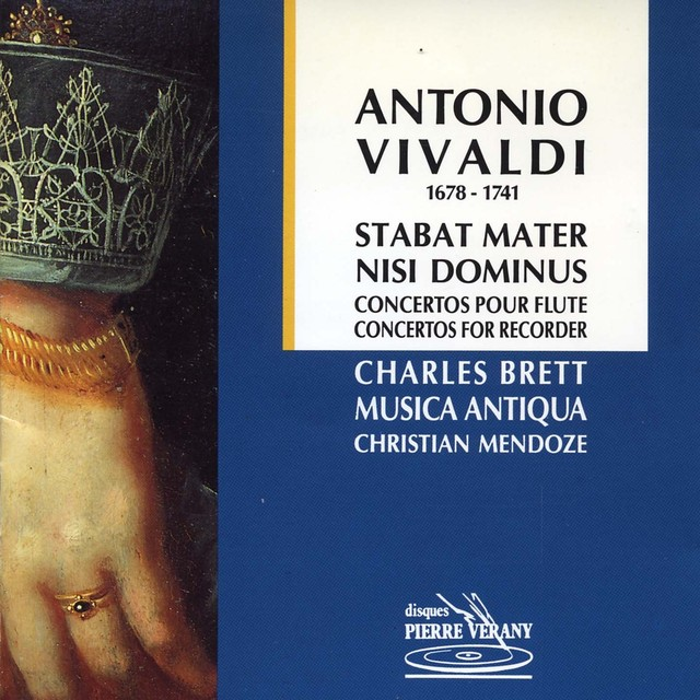 Vivaldi : Stabat Mater Nisi Dominus - Concertos pour flûte Albumcover