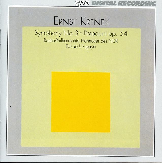 Krenek: Symphony No. 3, Op. 16 - Potpourri, Op. 54