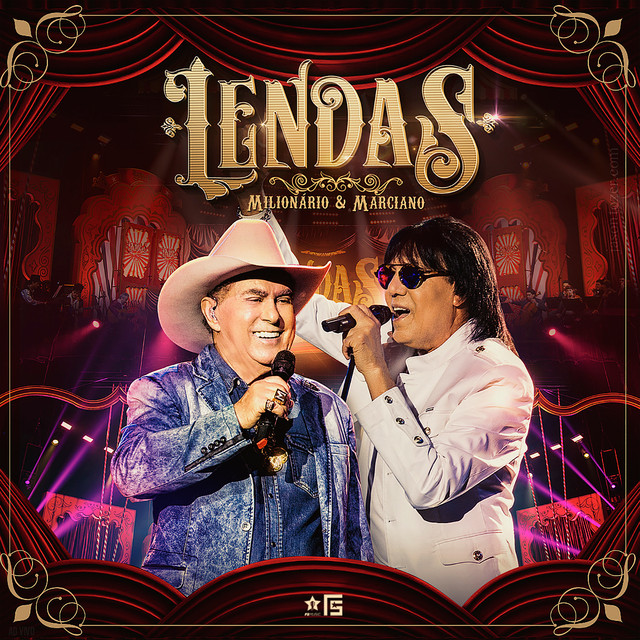 Album cover for Lendas (Ao Vivo) by Milionário & Marciano